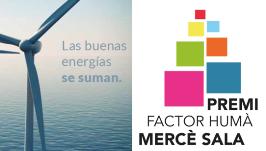 """""""Las buenas energías se suman"""", lema de la VIII edición del Premio Factor Humà Mercè Sala"""
