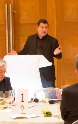 Josep Roca durant la seva xerrada